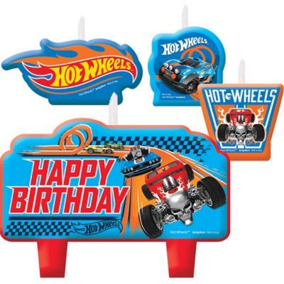 Shop For Hot Wheels Birthday Candles 4ct And Other Party Supplies Online At PartyCity Save With City Coupons Specials