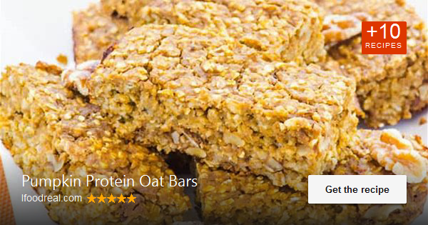 Pumpkin Protein Bars Recipe with oats, plant based protein