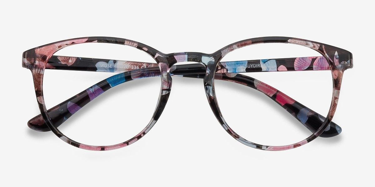74c9104886 Muse Pink Floral Plastic Eyeglasses from EyeBuyDirect. Come and discover  these quality glasses at an affordable price. Find your style now with this  frame.