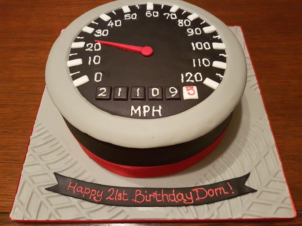 Fine Speedometer Boys Mens 21St Birthday Cake 21St Birthday Cakes Personalised Birthday Cards Epsylily Jamesorg