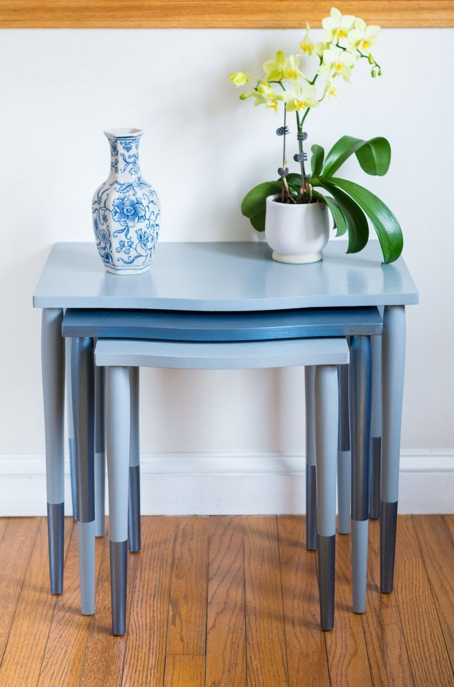 $10 Nesting Tables Makeover