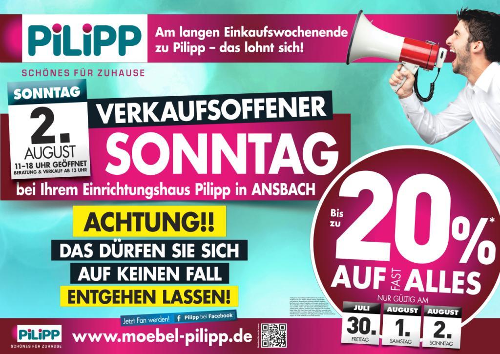 Verkaufsoffener Sonntag Bei Ihrem Einrichtungshaus Pilipp In Ansbach Gewinnspiel Verkaufsoffener Sonntag Einkaufen