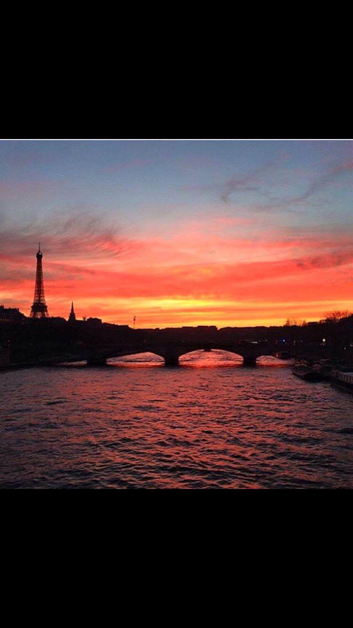 coucher soleil paris