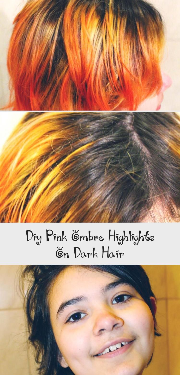 Pink Ombre Highlights On Dark Hair Bicultural Familia