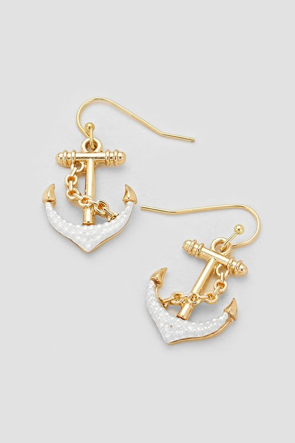 Nautical Earrings In Silver On Gold Emma Stine Limited