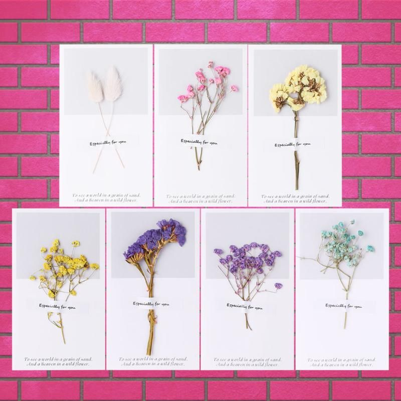 Creative Dried Flowers Card Handmade Paper For Birthday Greeting Diy Envelope Buy At A Low Prices On Joo Flower Cards Flower Cards Handmade Pressed Flowers Diy