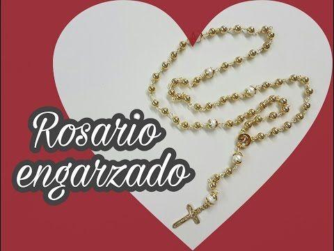 c872c8893d0e COMO HACER UN ROSARIO CON ENGARCE SENCILLO!! Con Cecy Love Bisuteria ...