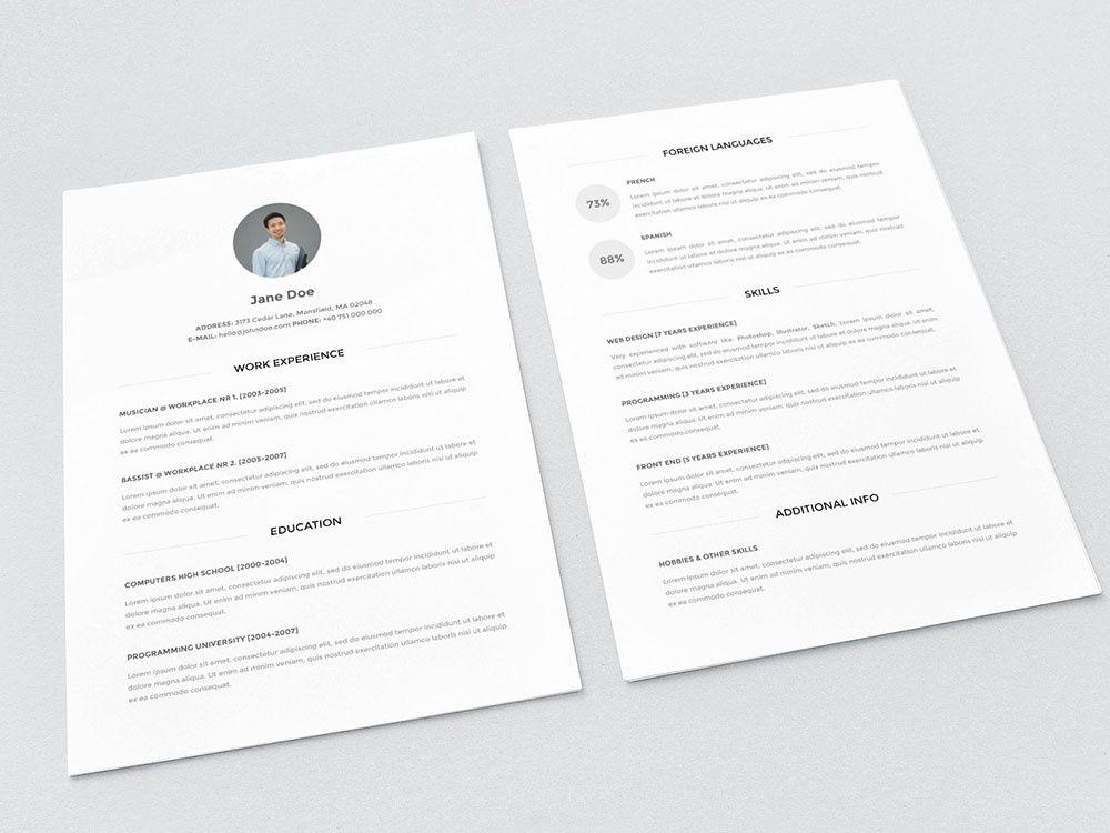 Minimalist Look Resume Template Freebies Resume Template Free Free Resume Template Word Best Free Resume Templates
