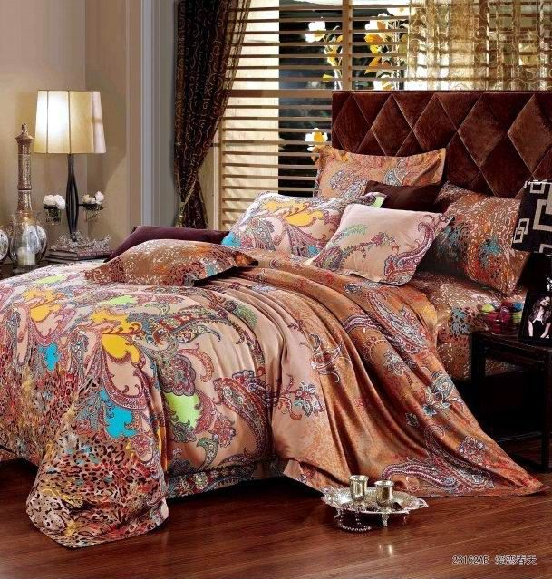 Egyptian Cotton Luxury Comforter Bedding Set Sets King Queen Size