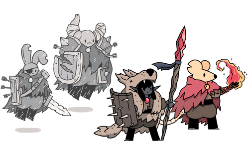 more fantasy pals from twitter from the left rabbit and beetle