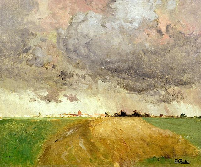 Frits Thaulow (1847 – 1906), Frits Thaulow, Storm in Delft