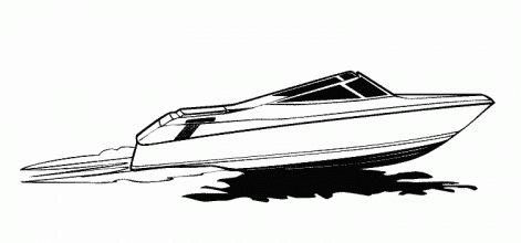 jet boat coloring pages - photo#18