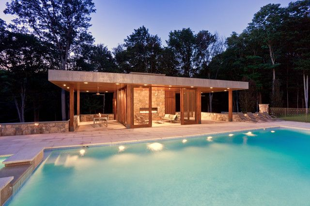 House · Modern Poolhouse