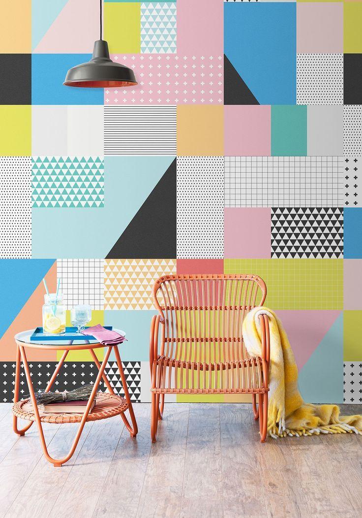 Sentiments Wallpaper, Inspirded by Memphis Design • Milton & King