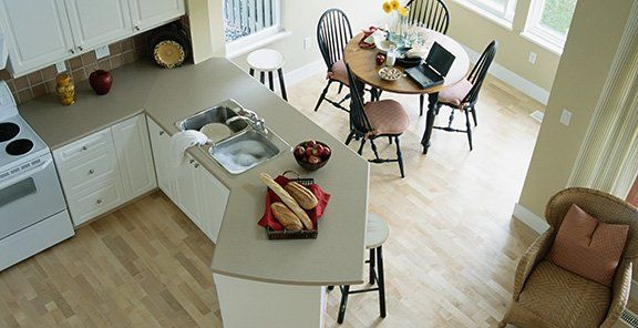 Tilted Bar For Kitchen Counter Making The Most Of Your Space Homesessive Com Curved Kitchen Kitchen Layout Kitchen Decor