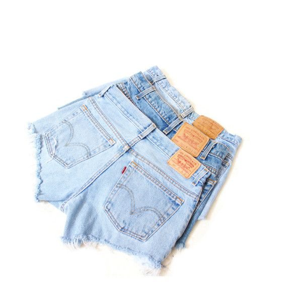 All Sizes Cut Off Levi's Vintage High Waisted Shorts Plus Sizes ($40) ❤ liked on Polyvore