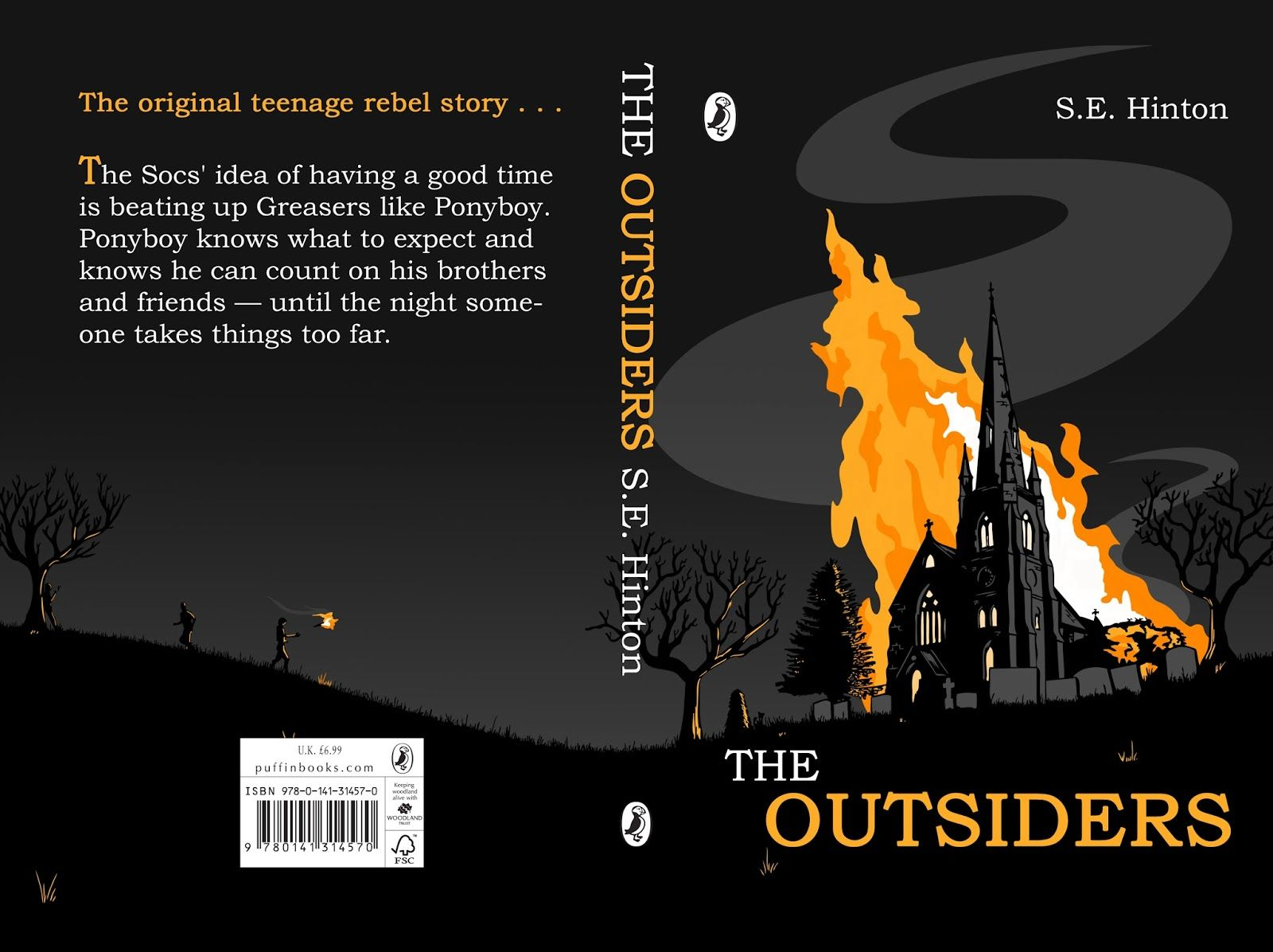 book cover ideas for the outsiders