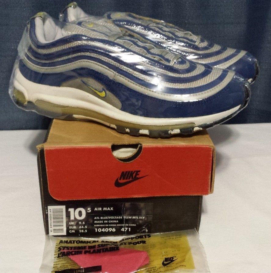 huge selection of 57f05 bb5e0 VTG OG NIKE AIR MAX 97 1997 104096 VOLT 10.5 95 96 1 90 Zoom Force Retro  Jordan  Nike  RunningCrossTraining