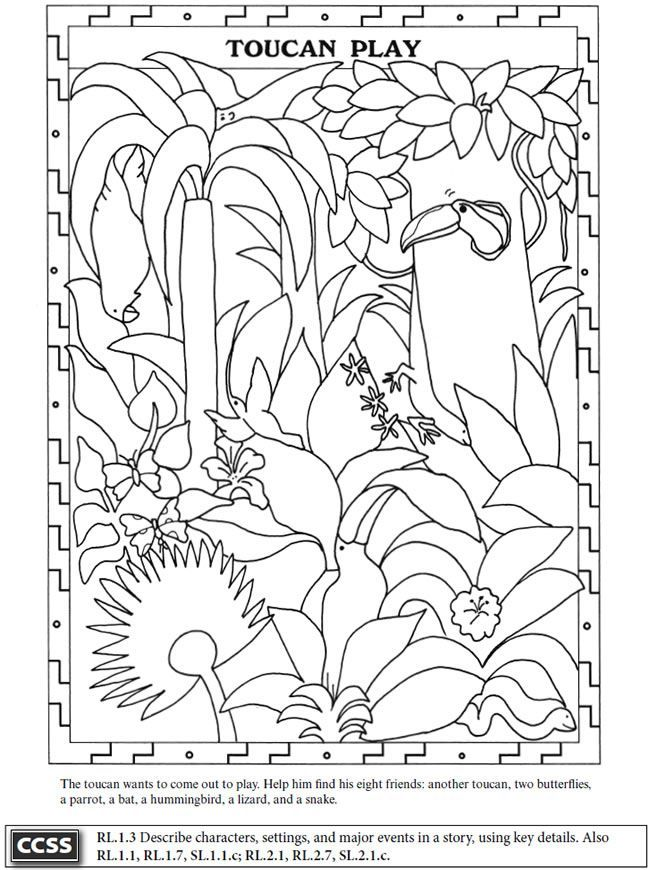 dover coloring pages tucans Pesquisa do Google 0 Desen