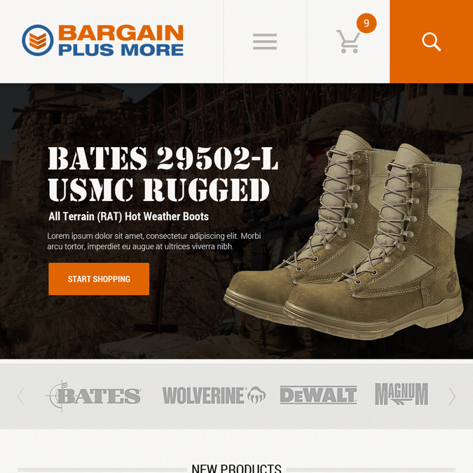 Create a high converting military/work theme website for boots and shoes. by xandreanx.