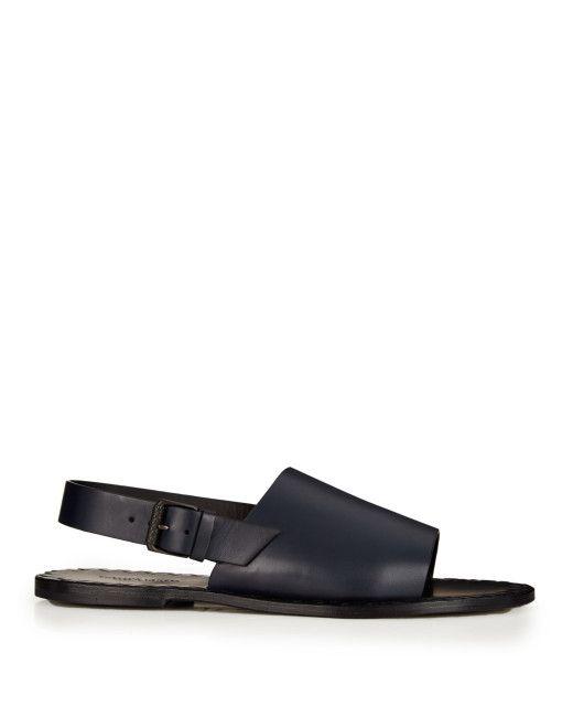 13777ac072b Men s Blue Leather Sandals