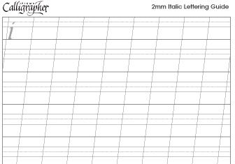 pigma calligrapher guide 2mm fonts by hand calligraphy tools calligraphy lettering guide. Black Bedroom Furniture Sets. Home Design Ideas