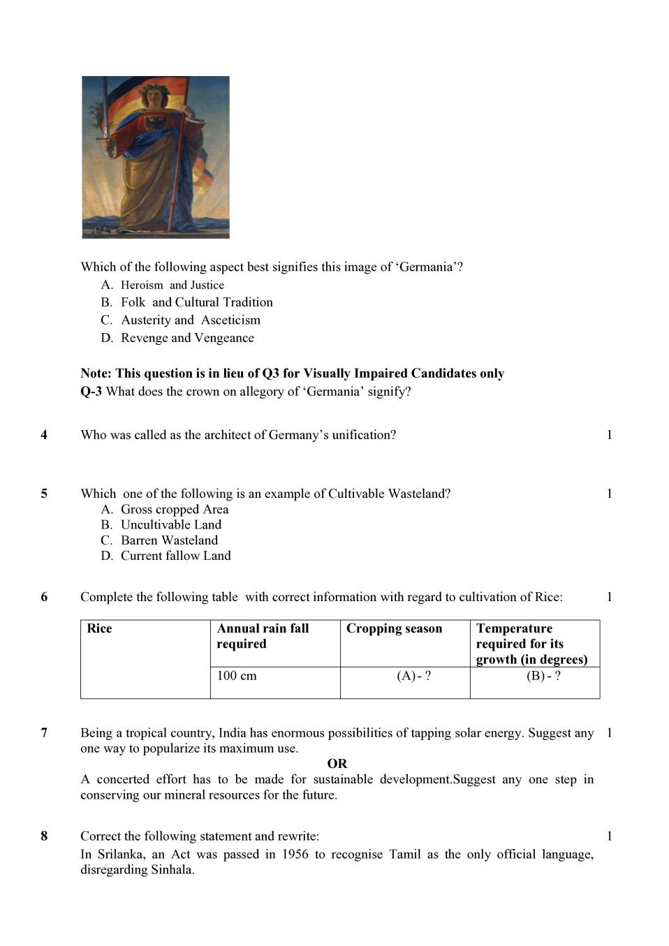 Cbse Class 10 Sample Paper 2020 For Social Science Social
