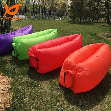 White Leather Sofa Grams Sleeping Bag Inflatable Sofa Heat Insulation Fastness Waterproof Lounge Lazy Chair Only Need Seconds Sleeping bags