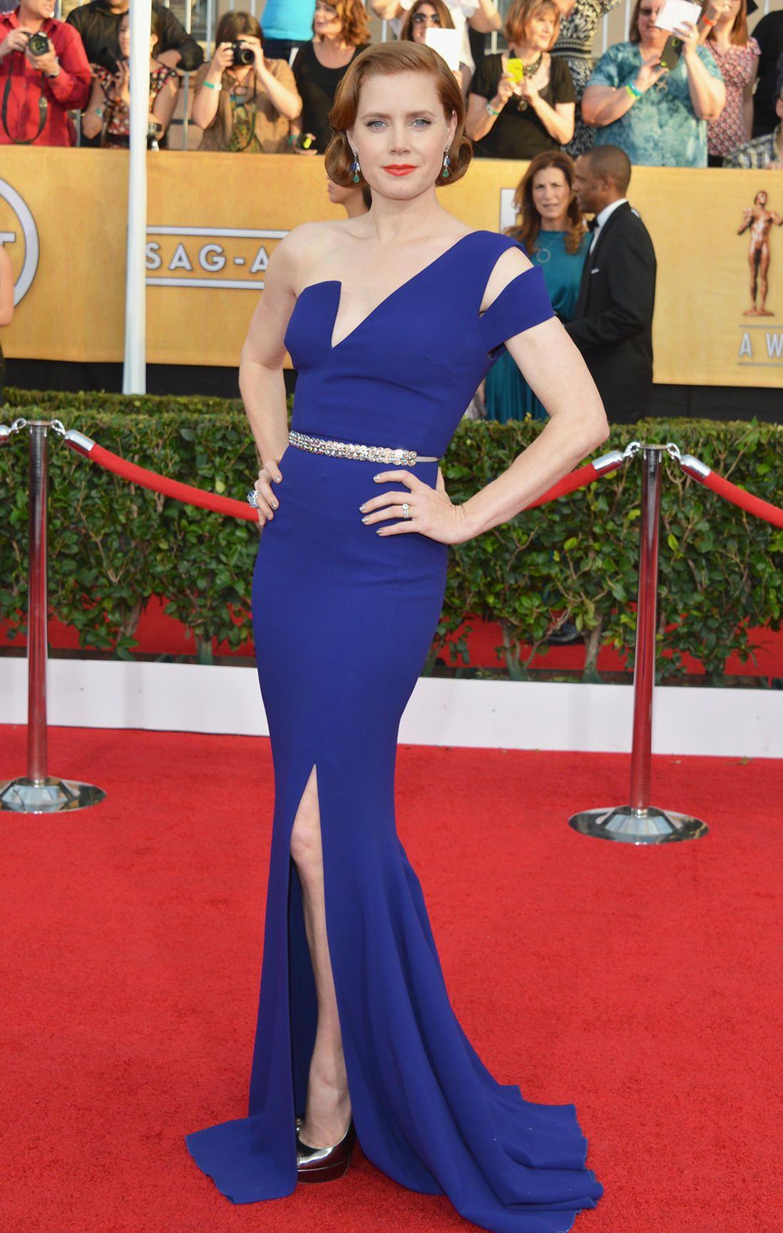 Amy Adams is stunning! #SAGAwards Great color choice too.