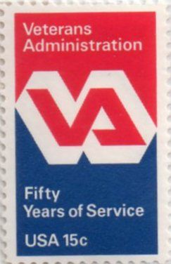 Us Stamp 1980 15 Cent Veterans Administration Fifty Years Of