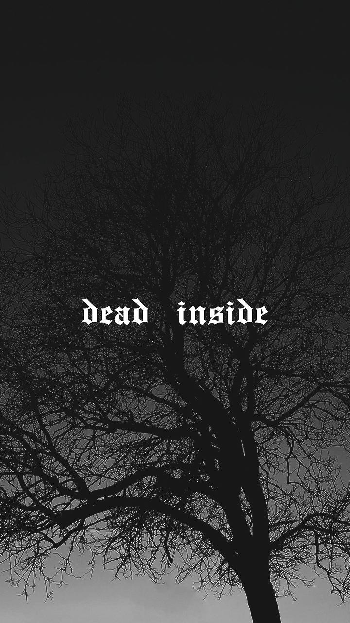 Dead Inside Black Aesthetic Wallpaper Black And White Wallpaper Black And White Aesthetic