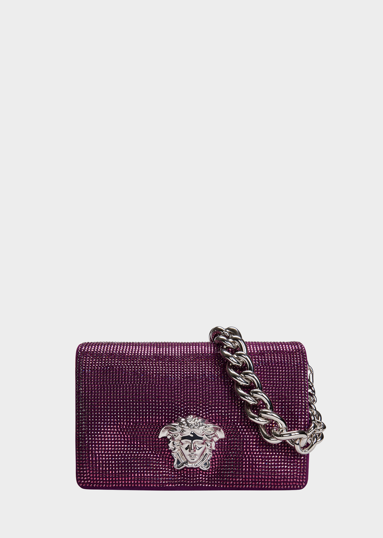 8d670fc5bab Crystal Sultan Leather Shoulder Bag from Versace Women s Collection. Sultan  bag from the Palazzo line in fine leather, with front Medusa Head ...
