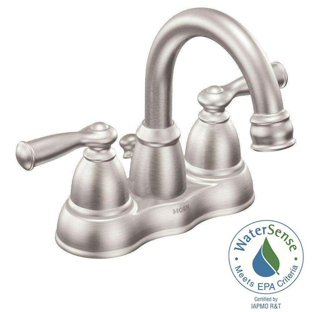 Moen Banbury 4 In Centerset 2 Handle Bathroom Faucet In Spot