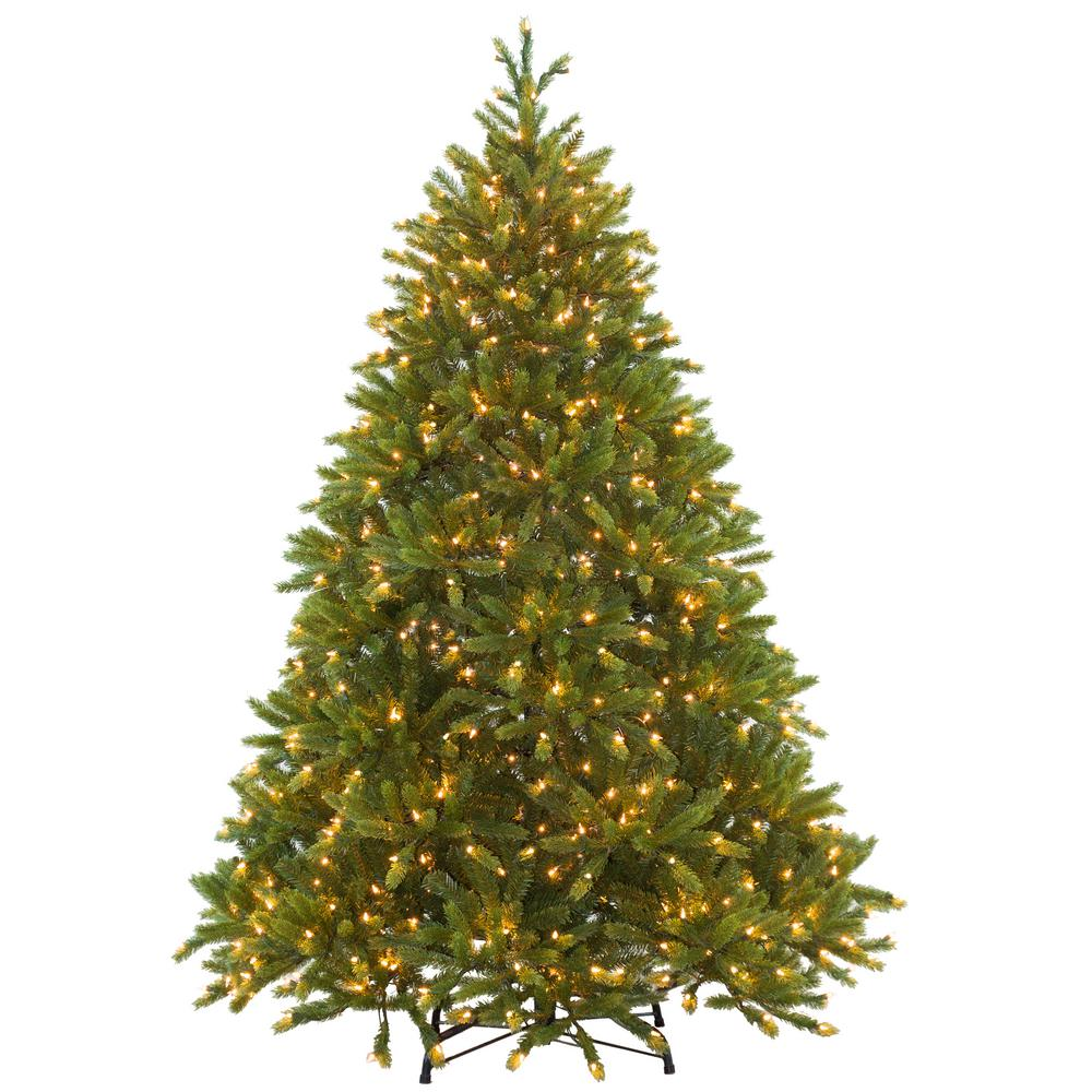 Home Accents Holiday 6 1 2 Ft Feel Real Jersey Fraser Fir Hinged Artificial Christmas Tree With 800 Clear Lights Pejf8 300 65 The Home Depot Artificial Christmas Tree Fraser Fir Christmas Tree