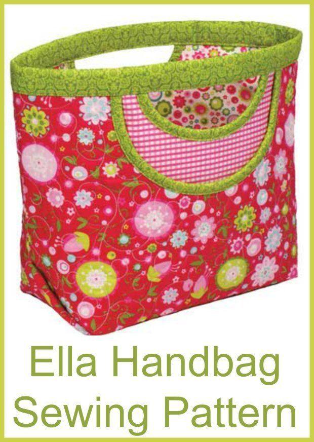 Ella simple handbag pattern | Tasche nähmuster, Nähmuster und ...