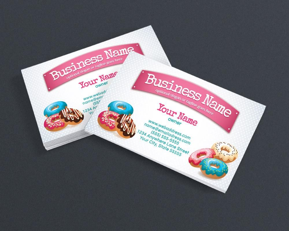 Bakery Business Card Design - Chef Business Card Design - Donuts ...