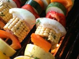 Grilled Vegetable Kabobs - The Preppy Hostess