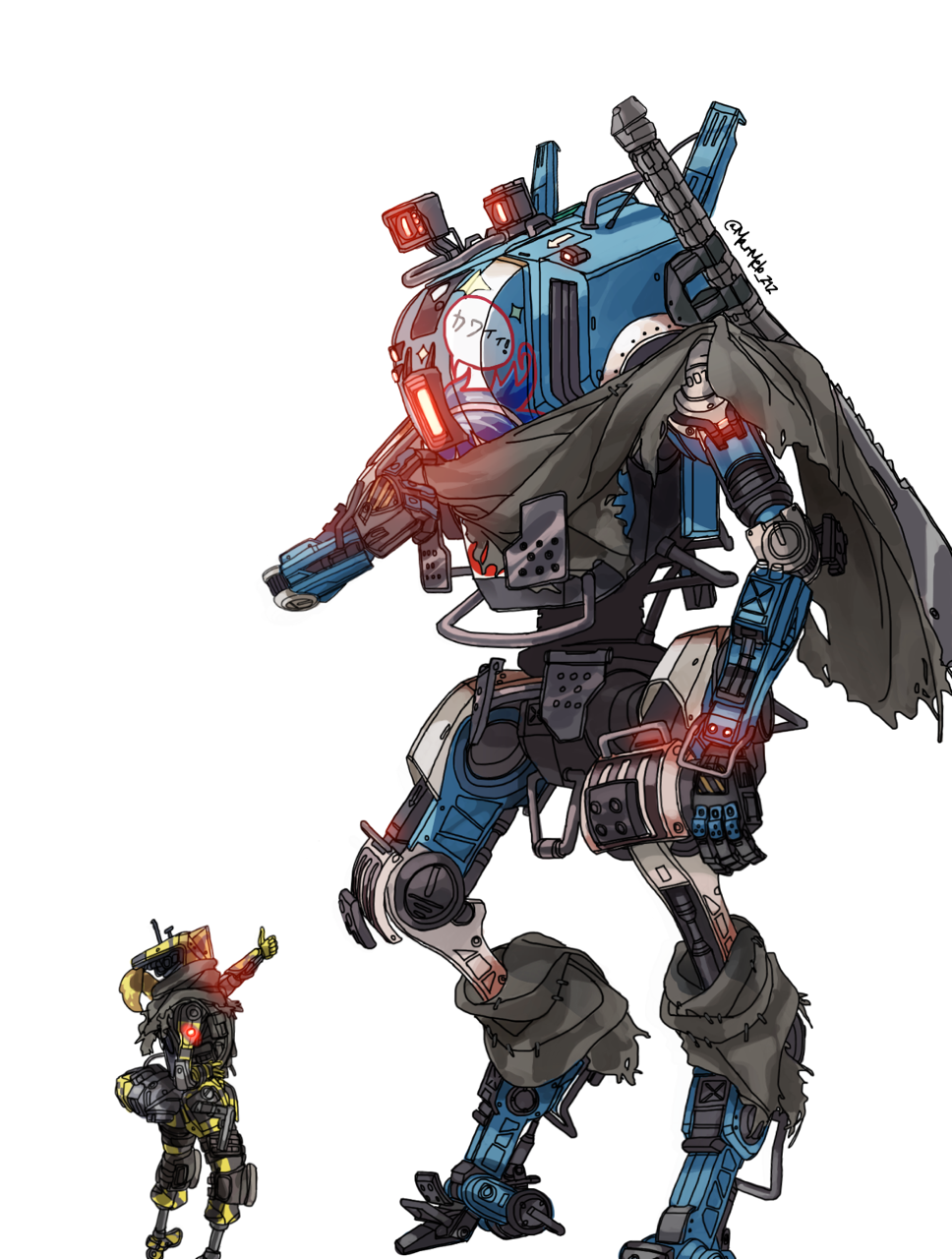 Titanfall 2 Robots Ronin By Marmeleiro212 Titanfall Robot Concept Art Robots Concept