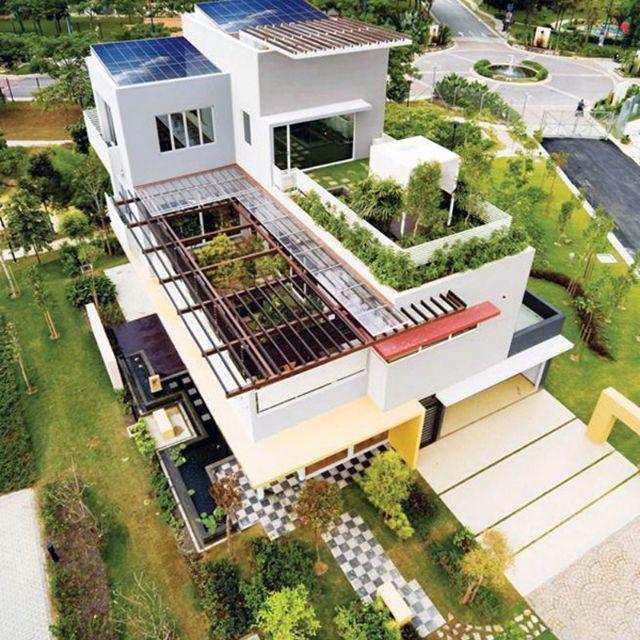 Home Design Ecological Ideas: Rooftop Garden/Solar Roof Integration Pinned By @dakwaarde