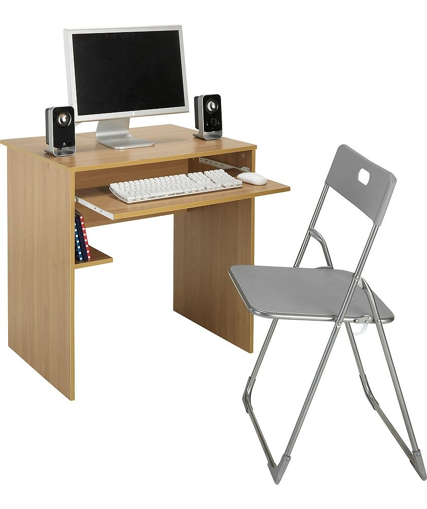 Buy Office Desk And Chair Set Beech Effect At Argos Co Uk Your Online Shop For Desks And Workstations Desk And Chair Set Office Desk Buy Office Desk