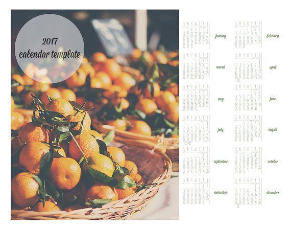 2017 calendar template, photographic calendar, calendar, template - loose leaf template