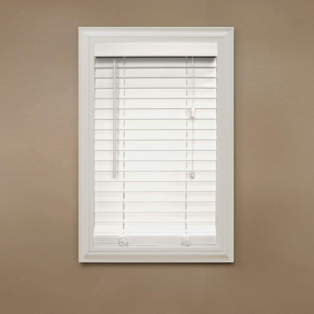 Home Decorators Collection White 2 In Faux Wood Blind 37 5 In