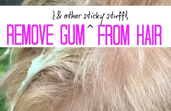 Remove Gum From Hair The Pleasantest Thing Gum How To Remove Hair