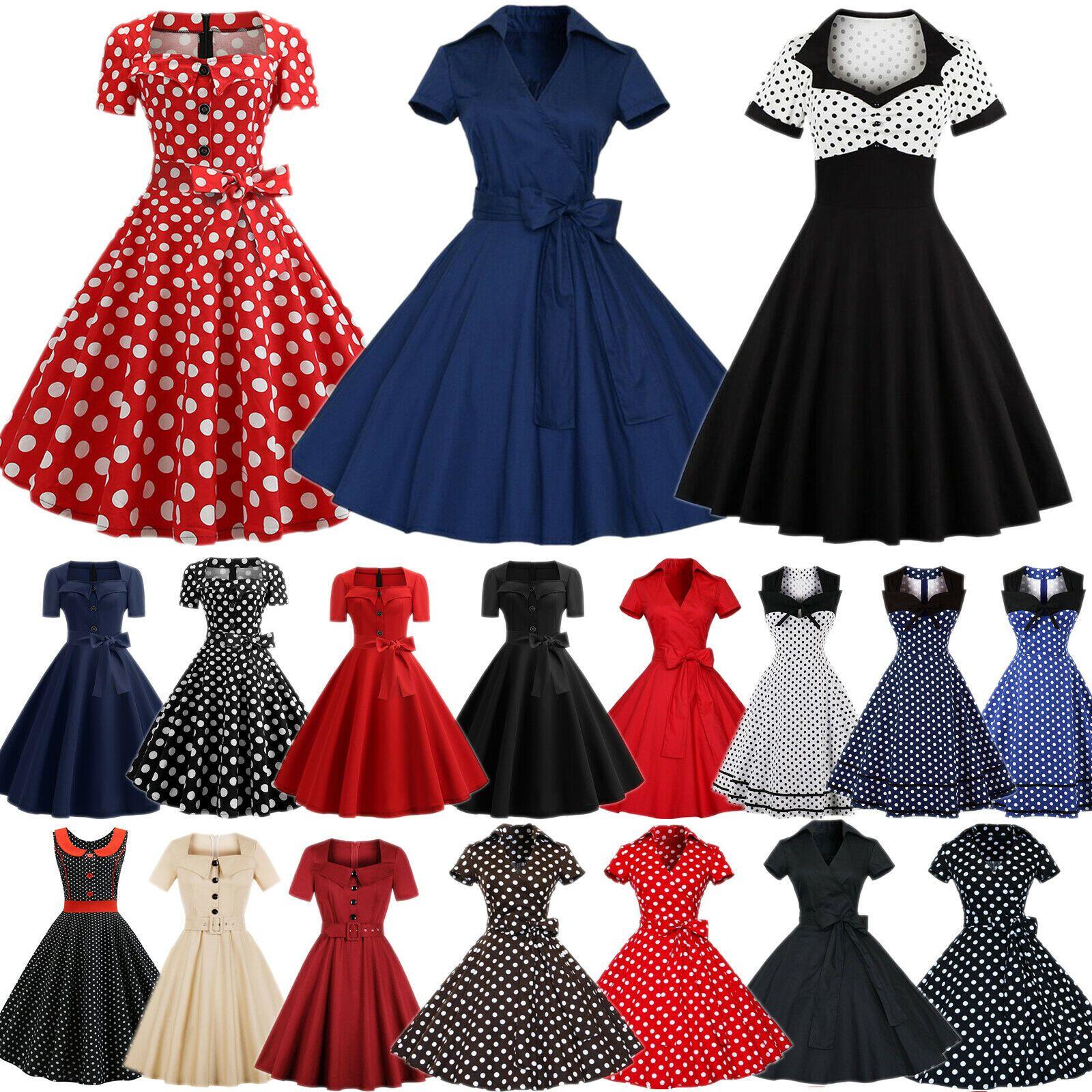 damen 50er rockabilly hepburn petticoat partykleid vintage