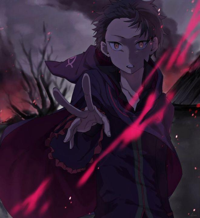 AllSubaru Re:Zero (Ngày cá tháng tư của vị vua bé nhỏ) - Sưu tầm ảnh Dark Subaru-kyun siêu siêu ngầu