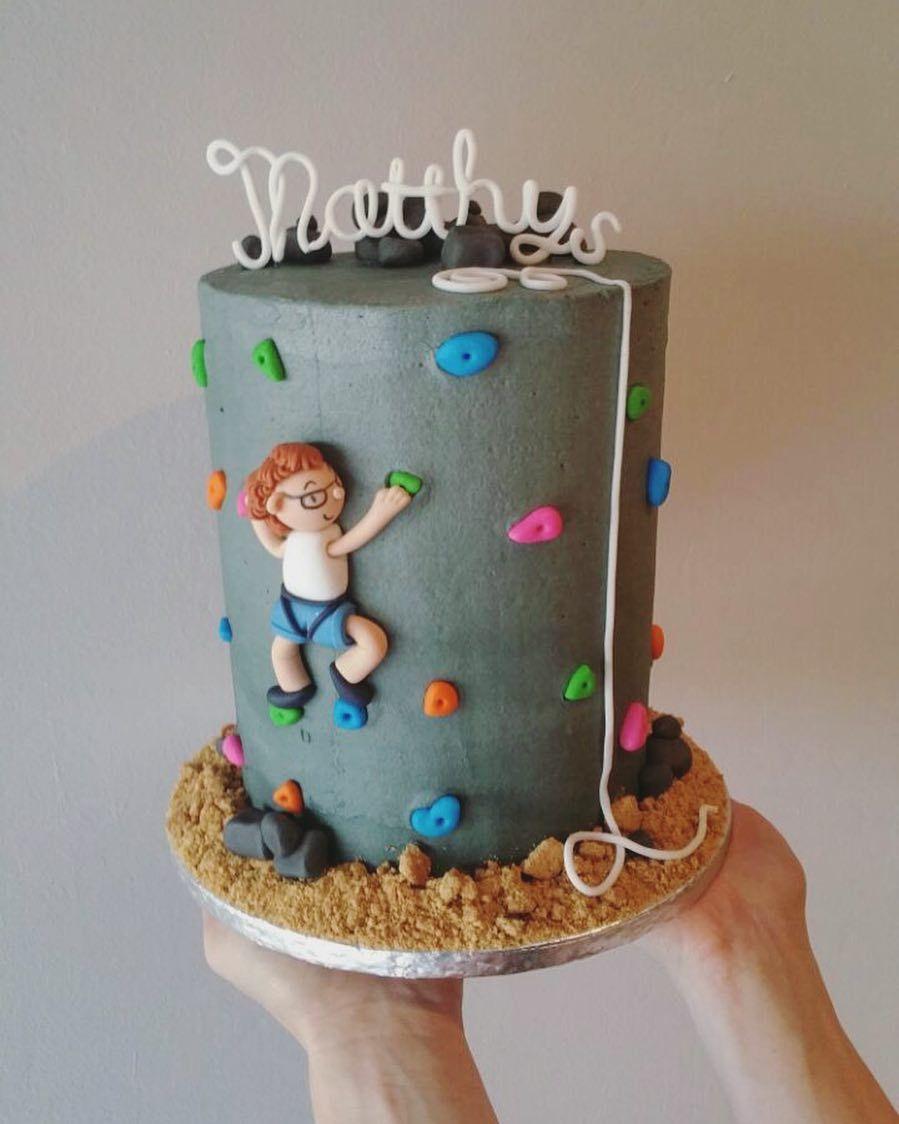 Buttercream Rock Climbing Cake Buttercream Rockclimbingcake