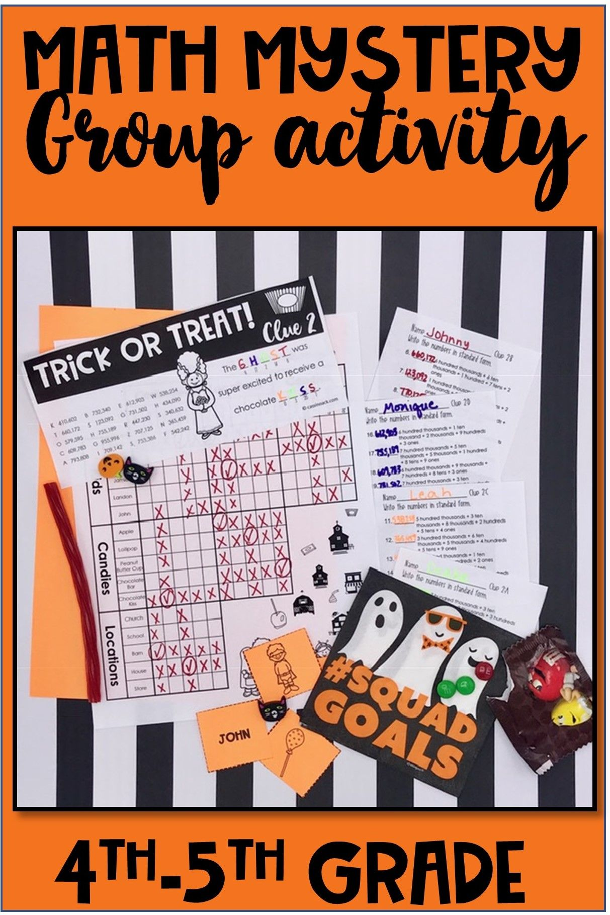 Halloween Math Worksheets For A Super Fun Mystery Group