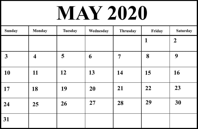Free May Calendar Printable Blank Editable Word Excel