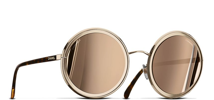 4fbf033d101 Round Summer Sunglasses - Chanel