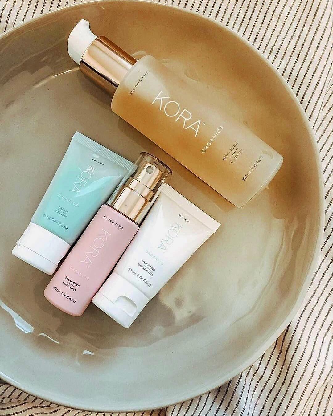 Kora Organics body oil, balancing rose mist, cream